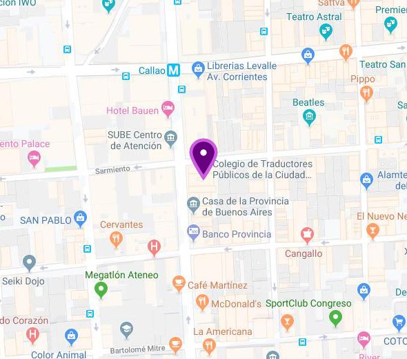 Mapa de Sede Avda. Callao