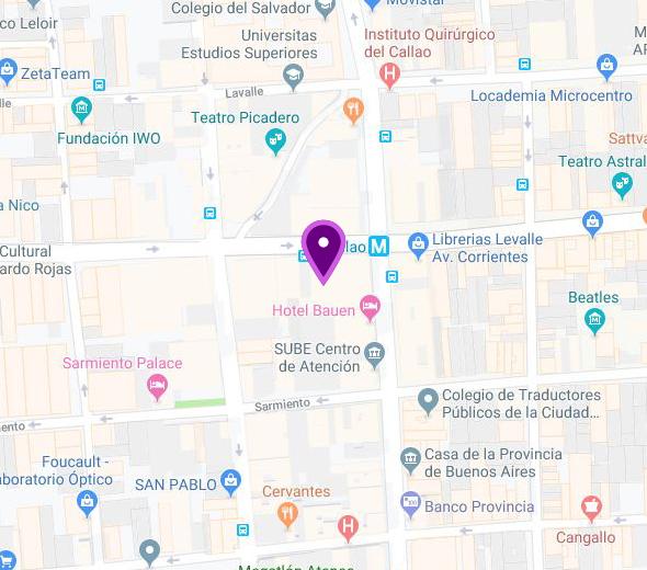 Mapa de Sede Avda. Corrientes
